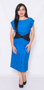 "PRICE: P380 ITEM CODE: 12-18 SIZE 109 (TAG SIZE) SILK, RAYON BUST: UP TO 36"" ARMHOLE: 19"" WAIST: UP TO 30"" LENGTH: 42"""
