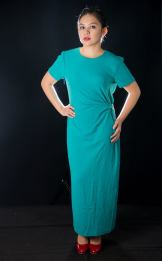 "RESERVED FOR MS. Arlene Garnett PRICE: P400 ITEM CODE: 14-33 BUST: 40"" WAIST: 32"" ARM HOLE: 18"" LENGTH: 49"""