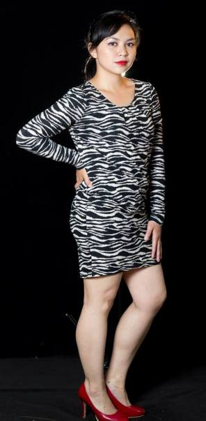 """PRICE: P400 ITEM CODE: 16-101 SEMI-STRETCHABLE BUST: 38"""" ARMHOLE: 15"""" SLEEVE CIRCUMFERENCE: 11"""" WAIST: 30"""" - 32"""" HIPS: UP TO 42"""" LENGTH: 32"""""""