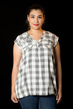 """PRICE: P300 ITEM CODE: 16-46 M (TAG SIZE) BUST: 44"""" ARMHOLE: 18"""" LENGTH: 29"""""""