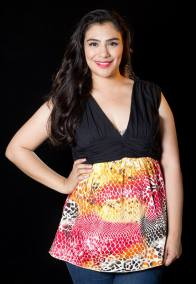 """PRICE: P320 ITEM CODE: 16-83 14/16 (TAG SIZE) BUST: 44"""" ARMHOLE: 16"""" EMPIRE WAIST: 36"""" LENGTH: 30"""""""