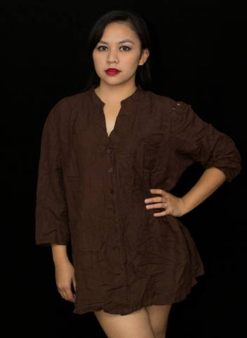 "PRICE: P320 LANE BRYANT 14/16W (TAG SIZE), LINEN, RAYON BUST: 48"" ARMHOLE: 20"" SLEEVE CIRCUMFERENCE: 17"" LENGTH: 29"""