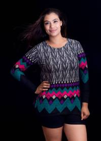 """PRICE: P300 ITEM CODE: 25-56 STRETCHABLE BUST: UP TO 44"""" ARMHOLE: 18"""" SLEEVE CIRCUMFERENCE: 12"""" LENGTH: 27"""""""