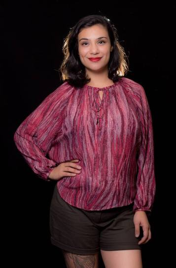 """ITEM CODE: 79-125 PRICE: P370 POLYESTER BUST: 52"""" ARMHOLE: 28"""" SLEEVE CIRCUMFERENCE: 19"""" WAIST: 52"""" LENGTH: 26"""""""