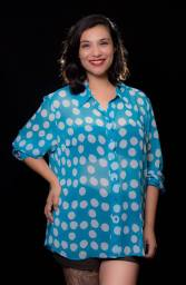 """ITEM CODE: 79-63 PRICE: P370 BRAND: LANE BRYANT 22/24 (TAG SIZE), POLYESTER BUST: 58"""" ARMHOLE: 26"""" SLEEVE CIRCUMFERENCE: 20"""" WAIST: 56"""" LENGTH: 30"""""""