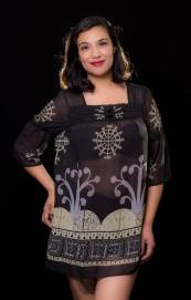 """ITEM CODE: 79-87 PRICE: P350 3L (TAG SIZE) BUST: 44"""" ARMHOLE: 22"""" SLEEVE CIRCUMFERENCE: 14"""" WAIST: 48"""" LENGTH: 32"""""""