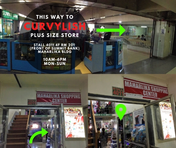 curcylish plus size clothing store in Baguio City direction